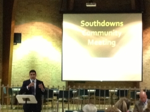 Southdowns community meeting Christopher Aronstein